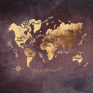 world map 148 rose gold #worldmap #map by JBJart