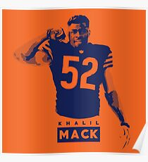 The New Monster of the Midway - Khalil Mack Poster