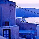 Santorini - Blue by Monica Di Carlo