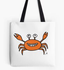 Mr and Mrs Crabby Amanya Design White Single Tote Bag