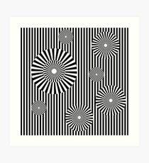 MOVING CIRCLES (BLACK) Lámina artística