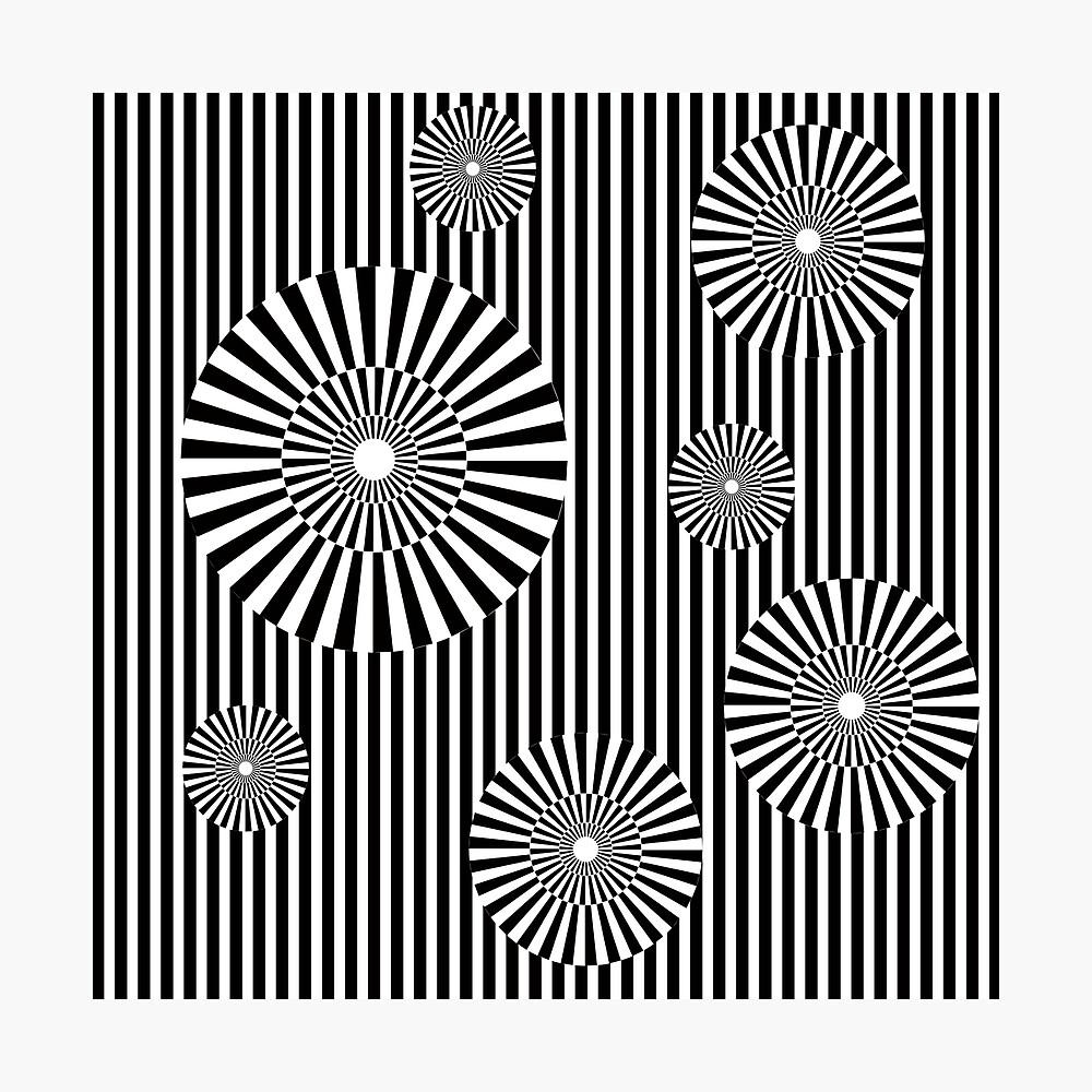 MOVING CIRCLES (BLACK) Lámina fotográfica