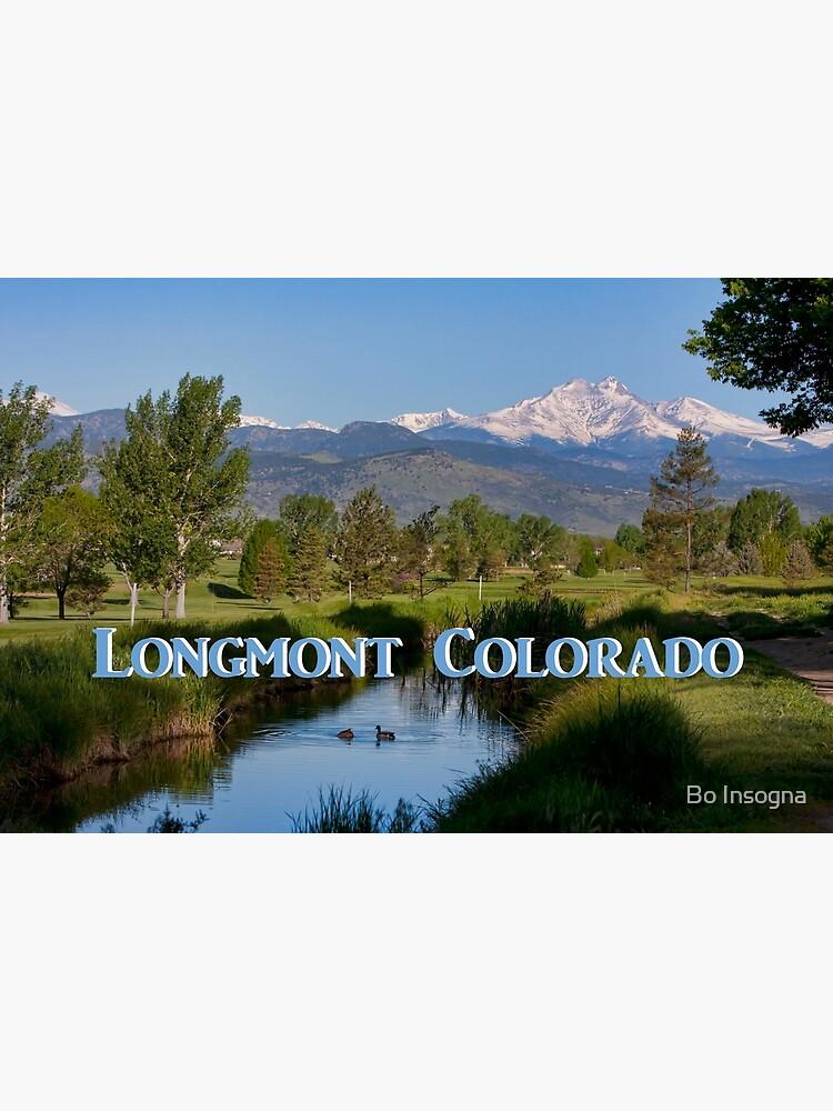 Longmont Colorado Twin Peaks View Poster by mrbo