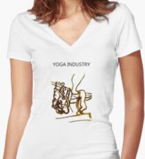 Yoga Industry Women's Fitted V-Neck T-Shirt
