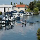 Boats on the River at Beccles, Suffolk by Sue Martin