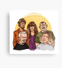 Spaced Metal Print