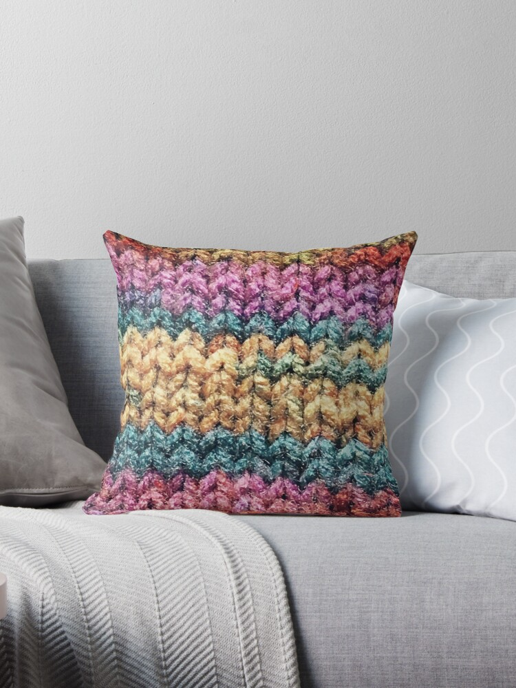 Knitted Rainbow.  by Wildwestgilly