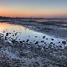 Sandgate mudflats at dusk by Richard Majlinder