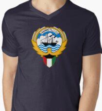 Kuwait Emblem Men's V-Neck T-Shirt