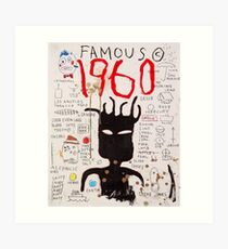 Basquiat 1960 berühmt Kunstdruck