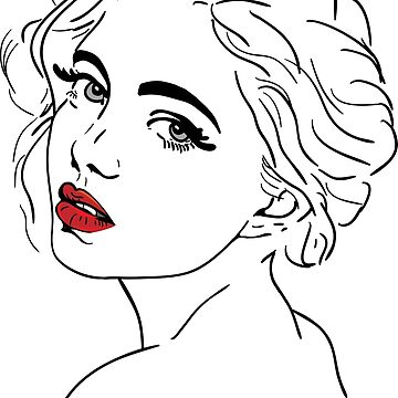 Beauty face girl portrait pinup by ativka