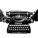 Vintage Style B&W Winged Corona Typewriter by octotypewriter