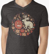 Halloween Friends | Autumn Palette V-Neck T-Shirt