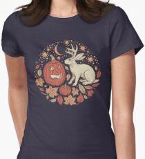 Halloween Friends | Autumn Palette Women's Fitted T-Shirt