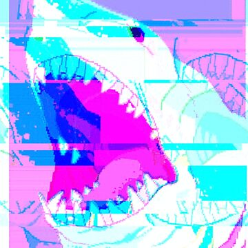Vaporwave Glitch Shark by SEryST