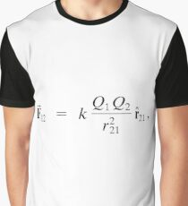 In physics, Gauss's law, also known as Gauss's flux theorem, is a law relating the distribution of electric charge to the resulting electric field Graphic T-Shirt