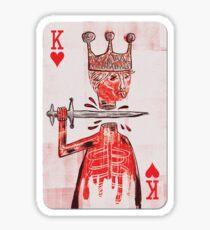 basquiat - king playing card Sticker