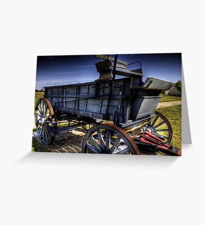 Freight Wagon Greeting Card