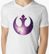 Nebel-Allianz des Rebellen T-Shirt mit V-Ausschnitt