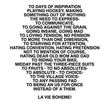 la vie boheme! by billiepaiged