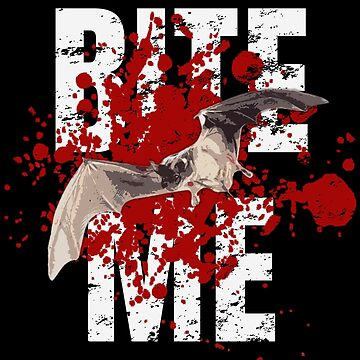 Bite Me Halloween Bat Art Design by MerchLovers