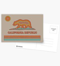 California Striped Bear Postcards
