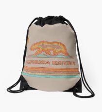 California Striped Bear Drawstring Bag