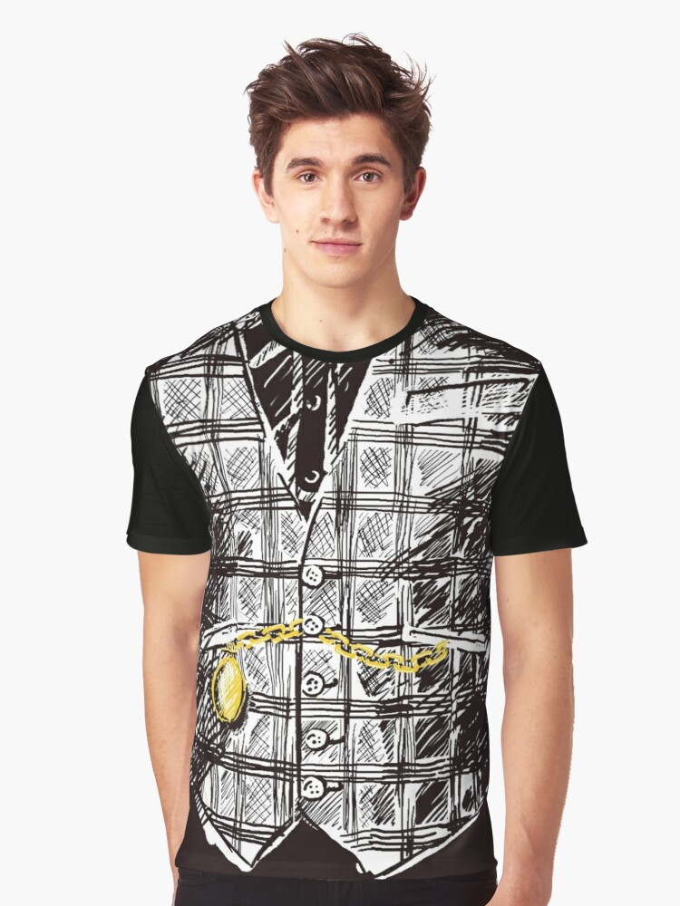 Sharp Dressed Man Graphic T-Shirt Front
