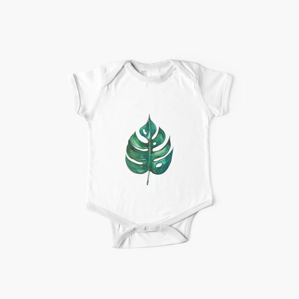 Monstera Banana Palm Leaf Baby One-Piece