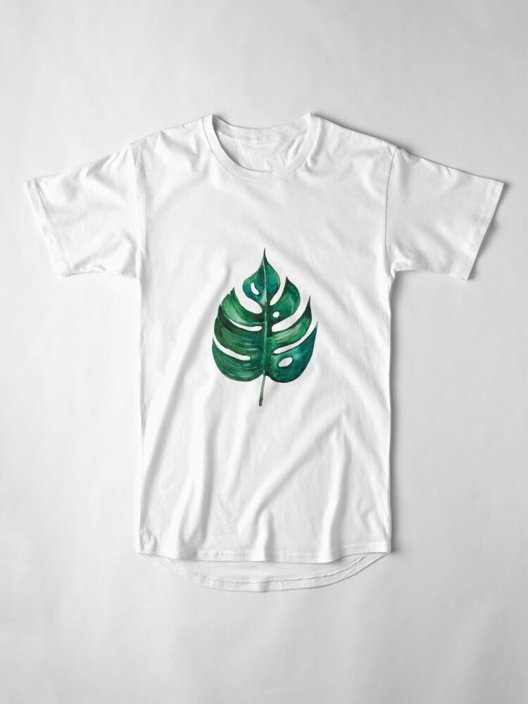 Alternative Ansicht von Monstera Bananen Palmblatt Longshirt