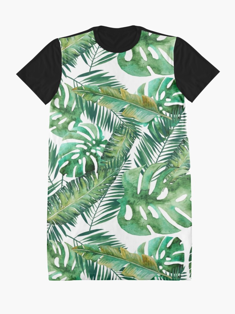 Alternative Ansicht von Monstera Bananen Palmblatt T-Shirt Kleid