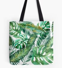 Monstera Bananen Palmblatt Tote Bag