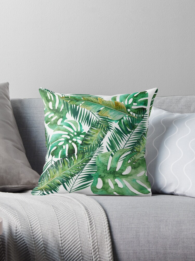 Monstera Bananen Palmblatt von Laura-Lise Wong