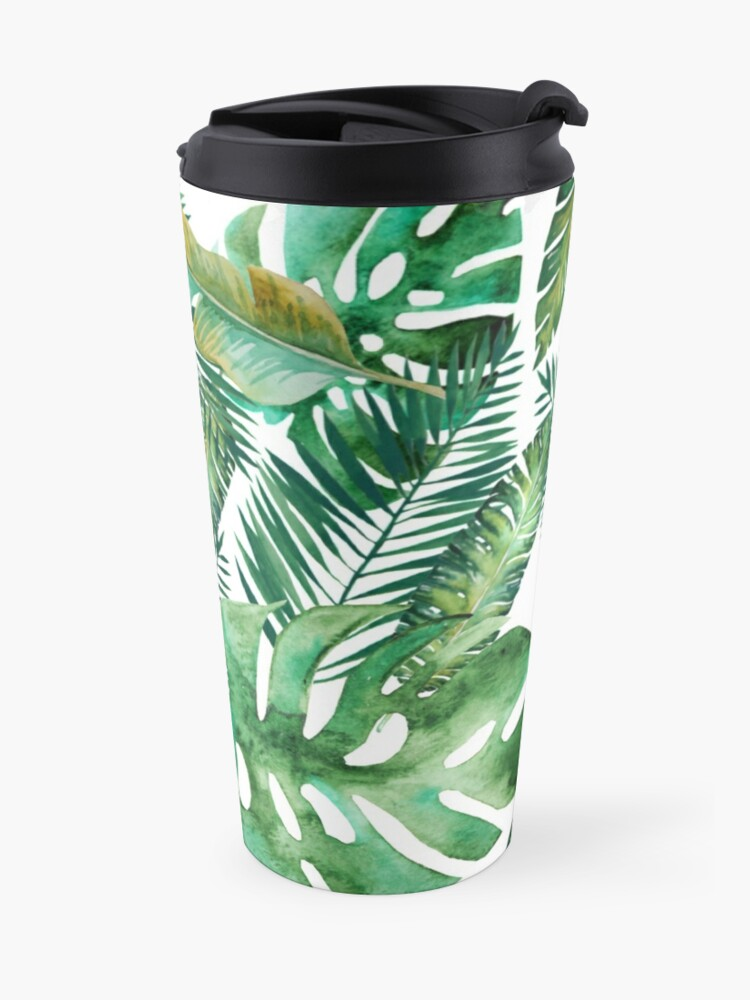 Alternate view of Monstera Banana Palm Leaf Travel Mug