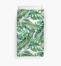 Monstera Banana Palm Leaf Duvet Cover