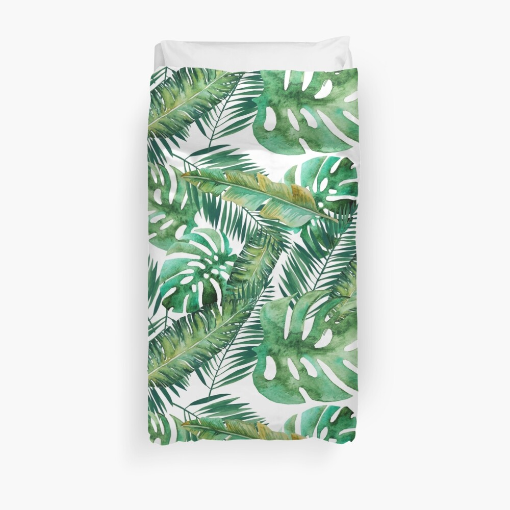 Monstera Bananen Palmblatt Bettbezug