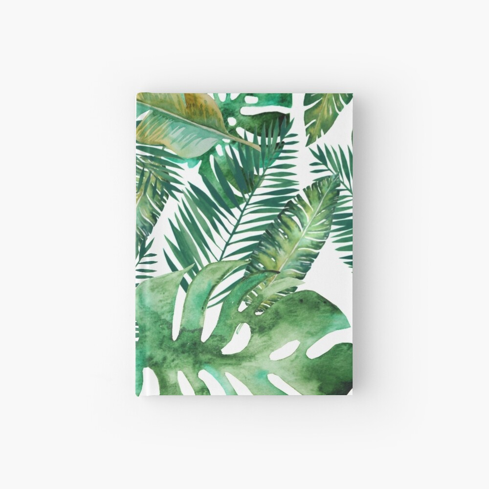 Monstera Bananen Palmblatt Notizbuch