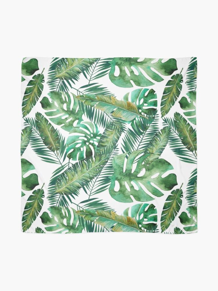 Alternate view of Monstera Banana Palm Leaf Scarf