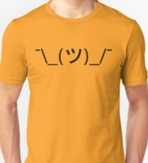 Shrug Emoticon ¯\_(ツ)_/¯ Japanese Kaomoji T-Shirt