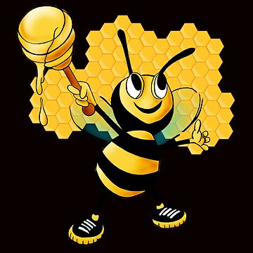 Yellow & Black Honey Bumblebee Bee Comb Insect Design  by eboggles