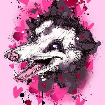 Love Opossum  by LVBART