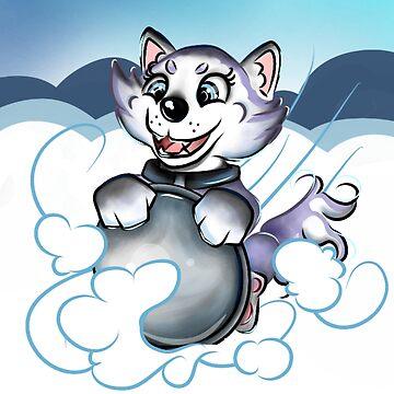 Happy Husky Pup by Katastra