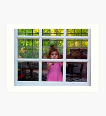 Olivia Through The Window Art Print