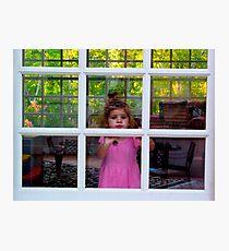Olivia Through The Window Photographic Print