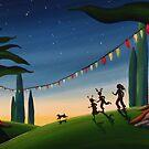 A Summery Christmas by Sarah  Mac Illustration