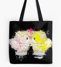 Anthropomorphized animals cartoon glowing Art Tote Bag