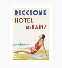 Riccione Italy Vintage Travel Poster Art Print