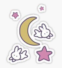 Sailor Moon inspired Bunny of the Moon Bedspread Blanket Print Sticker