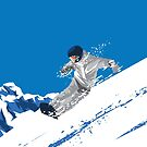 Shredding Snow Snowboarding Extreme Snowboarder  by scooterbaby