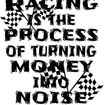Racing Turning Money to Noise Funny Track Car 2 Large Flags by GabiBlaze